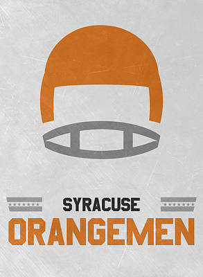 Football Mixed Media - Syracuse Orangemen Vintage Football Art by Joe Hamilton