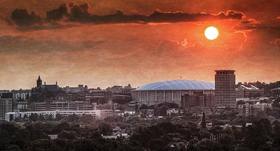 Domes Photograph - Syracuse Sunrise Over The Dome by Everet Regal