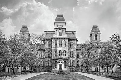 Black And White Images Photograph - Syracuse University Hall Of Languages by University Icons