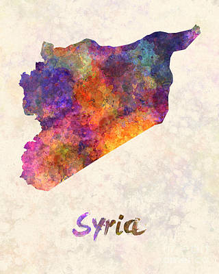 Damascus Painting - Syria In Watercolor by Pablo Romero