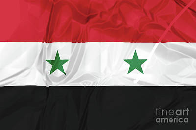 Photograph - Syria National Flag by Benny Marty