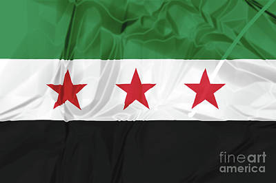 Photograph - Syrian National Coalition Flag by Benny Marty