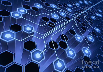 Processor Digital Art - System Connection by Ktsimage