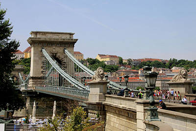 Photograph - Szechenyi Chain Bridge Across The River Danube by Fran West