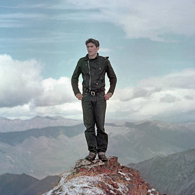 Photograph - T-01701 Ed Cooper On Sheep Mountain 1954 by Ed Cooper Photography