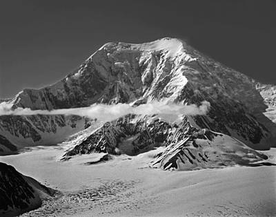 Photograph - T-101332-bw-mt. Foraker, Alaska by Ed  Cooper Photography