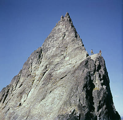 Photograph - T-204203 First Ascent Of Frenzelspitz Tower 1961 by Ed Cooper Photography