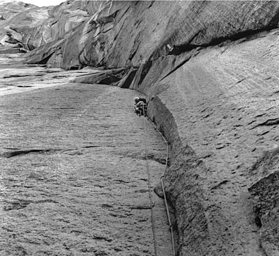Photograph - T-206611 Jim Baldwin On Second Pitch Dihedral Wall by Ed Cooper Photography