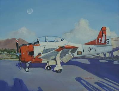 Painting - T-28 Needs Tlc by Bill Tomsa