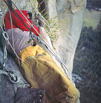 Photograph - T-306612-b Sleeping On Ledge El Capitan by Ed Cooper Photography