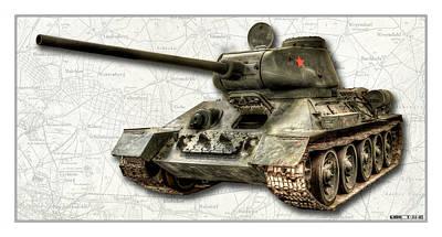 Photograph - T-34 Soviet Tank W Bg by Weston Westmoreland