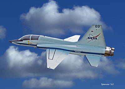 Photograph - T-38 Nasa Trainer by T Guy Spencer