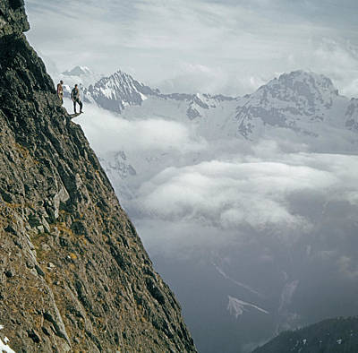 Photograph - T-404101 Climbers On Sleese Mountain by Ed Cooper Photography