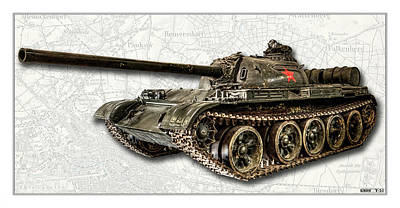 Photograph - T-54 Soviet Tank W-bg by Weston Westmoreland