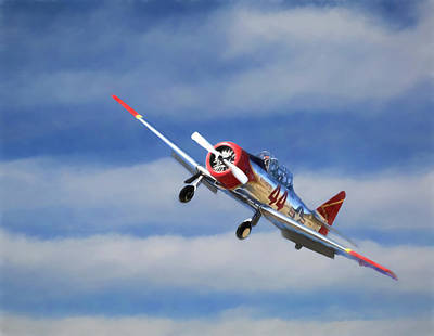 Reno Air Races Photograph - T-6 At The Races by Donna Kennedy