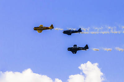 Photograph - T-6 Flyover by Sherri Meyer