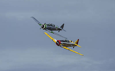Photograph - T-6 Trainers by Elvira Butler