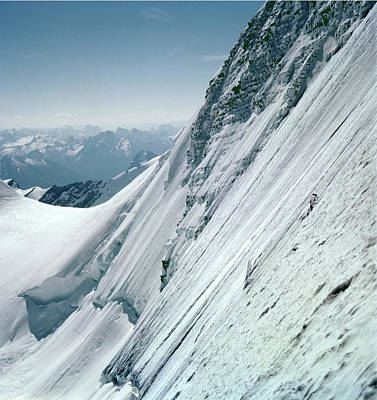 Photograph - T-602408 On Mt. Robson Ice Face by Ed Cooper Photography