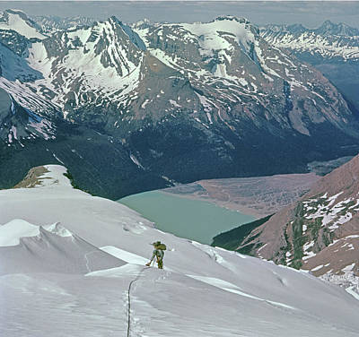 Photograph - T-602409 Fred Beckey On Berg Glacier On Mt. Robson by Ed Cooper Photography
