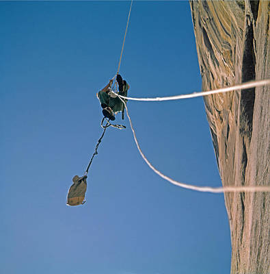 Photograph - T-606601 Ascending Fixed Rope On El Capitan by Ed Cooper Photography