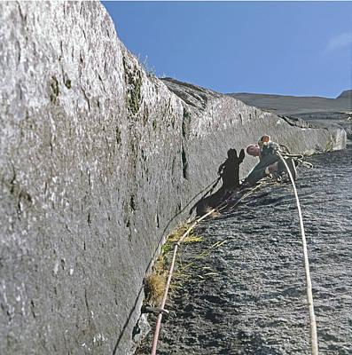 Photograph - T-806609 Glen Denny On El Capitan by Ed Cooper Photography