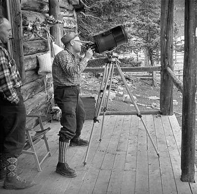 Photograph - T-902406 Harry Rowed At Original Berg Lake Chalet by Ed Cooper Photography