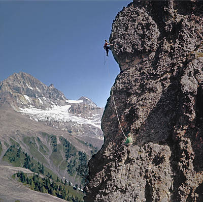 Photograph - T-902910 Fred Beckey Climbing Near Garibaldi Meadows by Ed Cooper Photography
