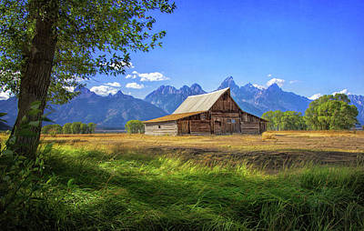 Photograph - T. A. Moulton Barn In The Tetons by Carolyn Derstine