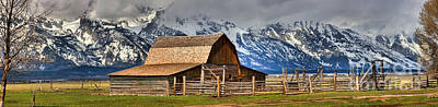T A Moulton Barn Spring Panorama Art Print by Adam Jewell