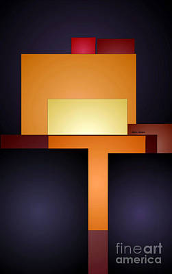 Digital Art - T Abstract by Rafael Salazar