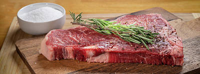 Still Life Royalty-Free and Rights-Managed Images - T Bone Steak Prep by Steve Gadomski