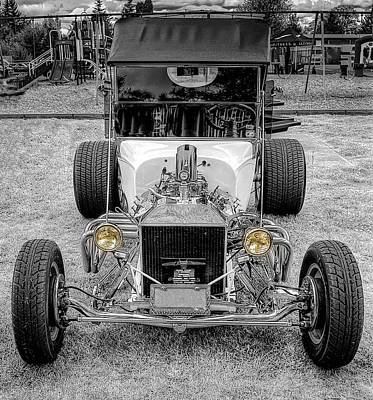 Car Hod Photograph - T Bucket by Thom Zehrfeld