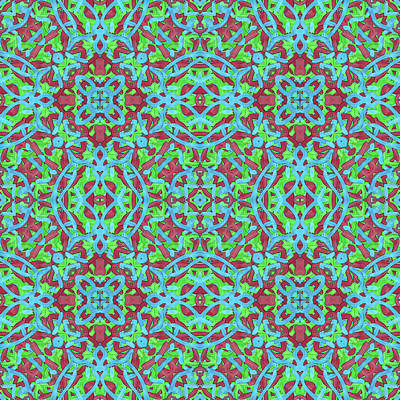 Digital Art - T H U -day- -multi-pattern- by Coded Images