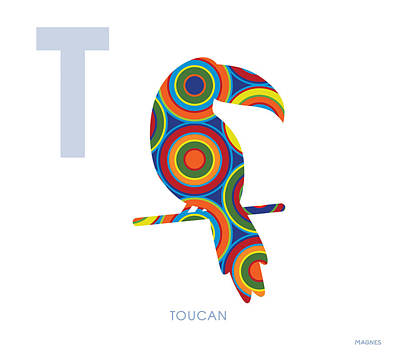 Toucan Digital Art - T Is For Toucan by Ron Magnes