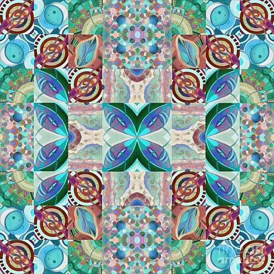 Digital Art - T J O D Mandala Series Puzzle 7 Arrangement 2 Inverted by Helena Tiainen