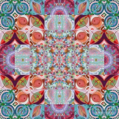 Mixed Media - T J O D Mandala Series Puzzle 7 Arrangement 4 - Inner Light by Helena Tiainen