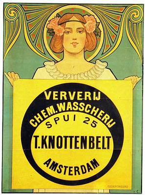 Royalty-Free and Rights-Managed Images - T Knottenbelt, Amsterdam - Ververij Chem - Vintage Advertising Poster by Studio Grafiikka