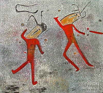 Dance Mixed Media - T. M. 4     No. 1 Of 2 by Pamela Iris Harden