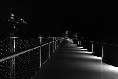 Photograph - T Pott Memorial Bridge At Night by Doug Ash