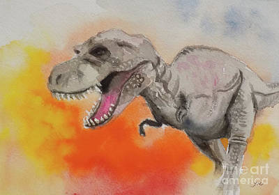 Painting - T Rex 1 by Yoshiko Mishina