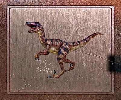Digital Art - T. Rex  by OLena Art Brand