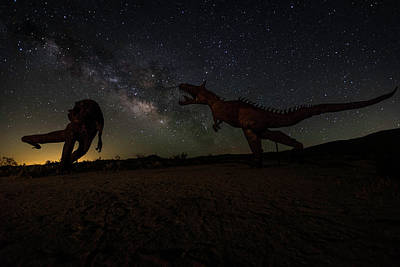 Photograph - T Rex Death Match by Scott Cunningham