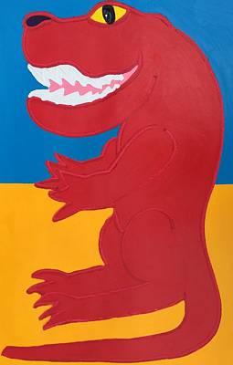 Painting - T-rex by Matthew Brzostoski