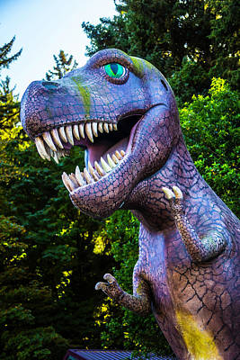 Life Size Photograph - T-rex Oregon Woods by Garry Gay