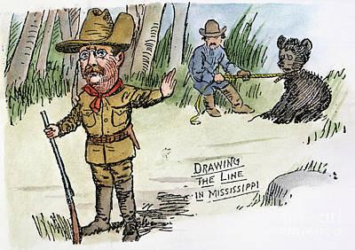 T. Roosevelt: Teddy Bear Art Print by Granger