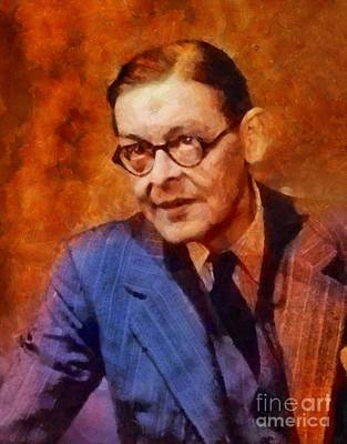 Literature Painting - T. S. Eliot, Literary Legend by Sarah Kirk