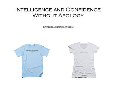 Tapestry - Textile - T-shirt - Intelligence And Confidence by David Miller