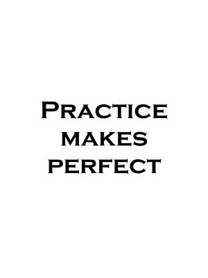 Image result for photograph of practice makes perfect