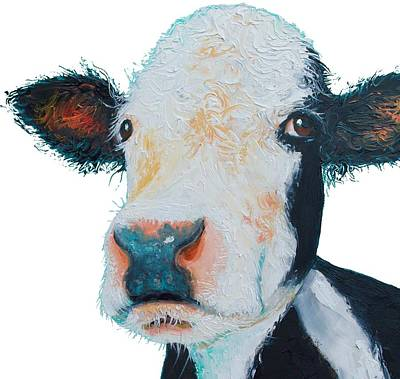 Painting - T-shirt With Cow Design by Jan Matson