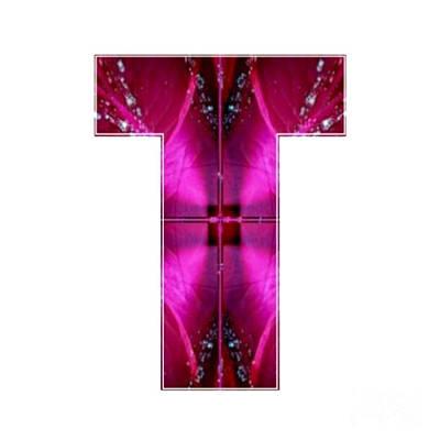 T Tt Ttt Alpha Art On Shirts Alphabets Initials   Shirts Jersey T-shirts V-neck By Navinjoshi Original